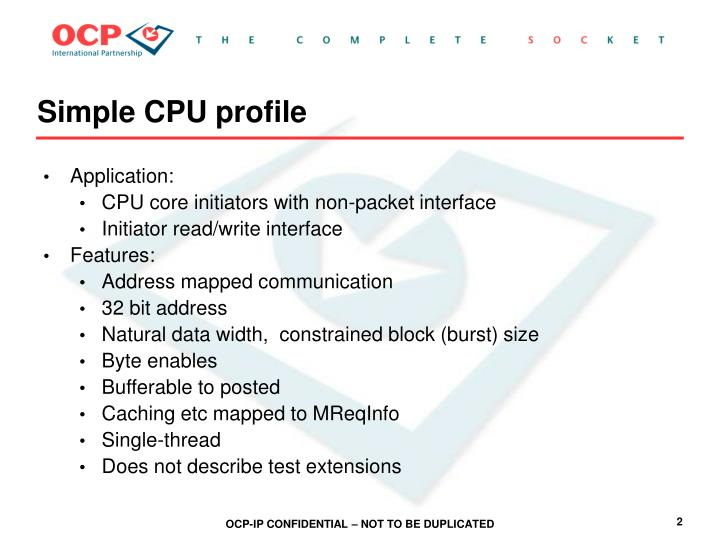 Simple cpu profile