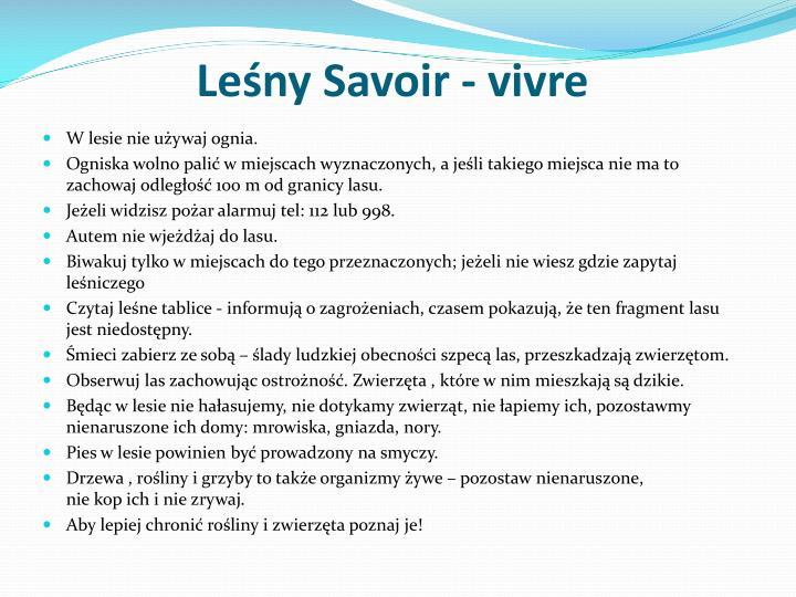 Leśny Savoir -