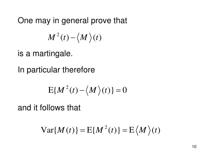 One may in general prove that