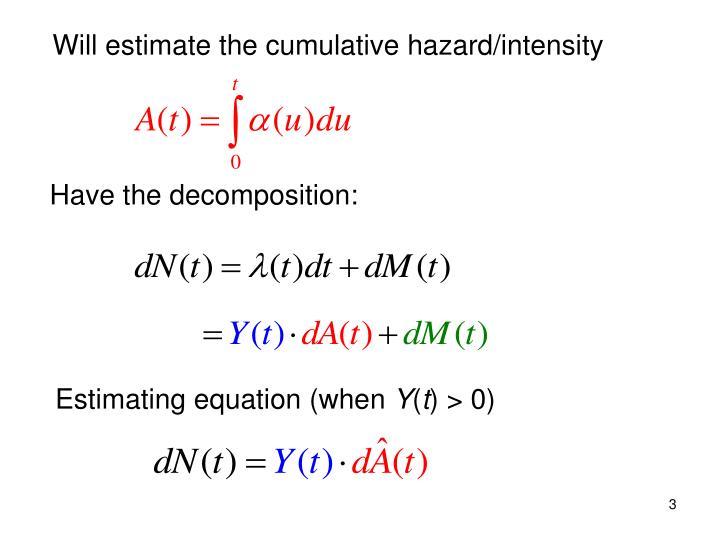 Will estimate the cumulative hazard/intensity
