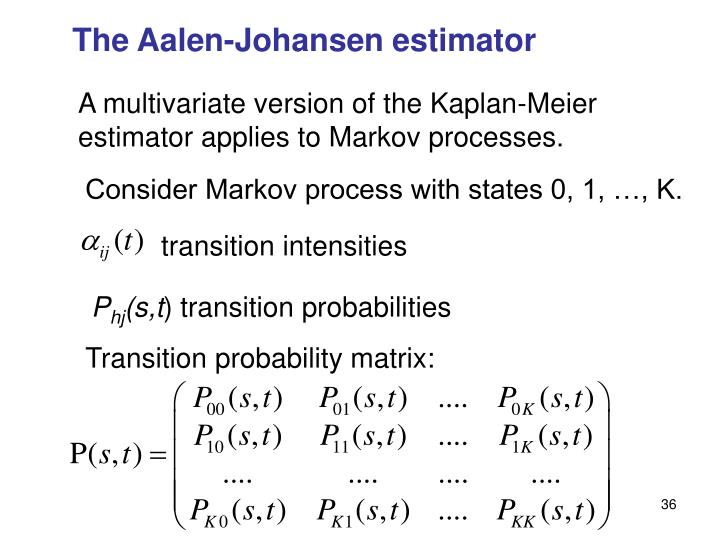 The Aalen-Johansen estimator