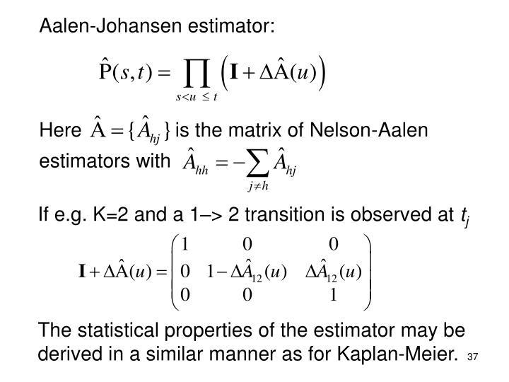 Aalen-Johansen estimator: