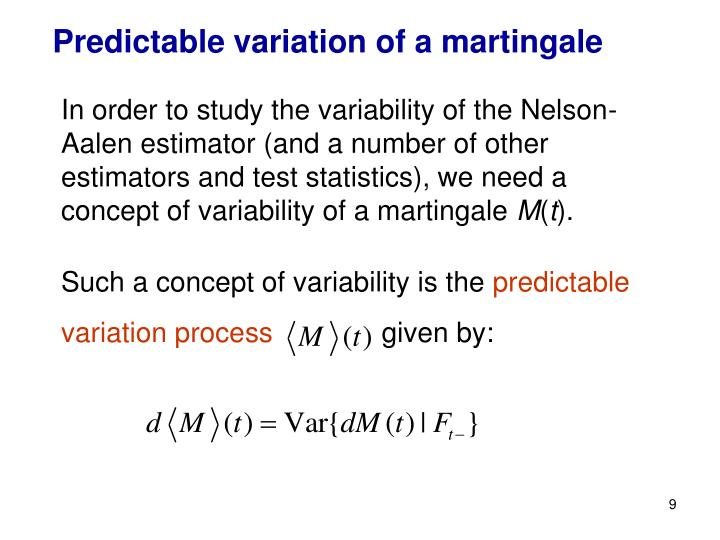 Predictable variation of a martingale