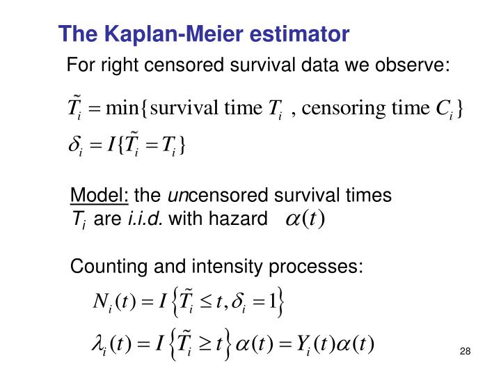 The Kaplan-Meier estimator