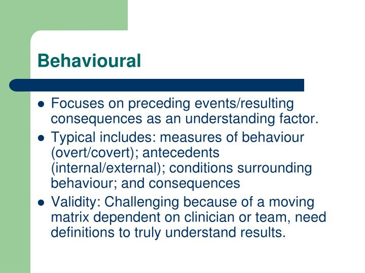 Behavioural