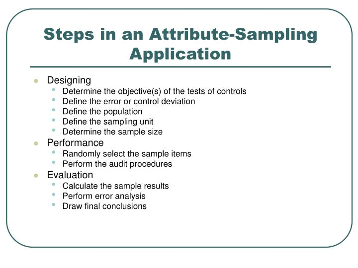 Steps in an Attribute-Sampling Application