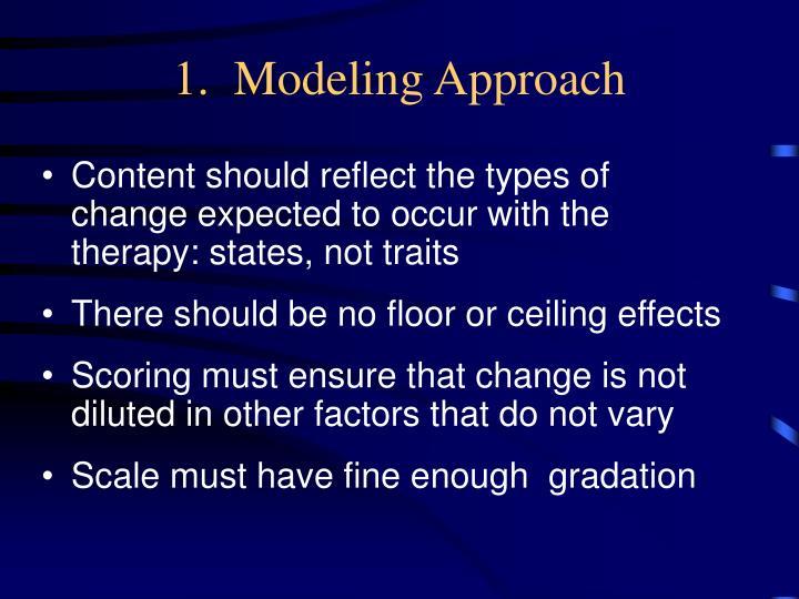 1.  Modeling Approach