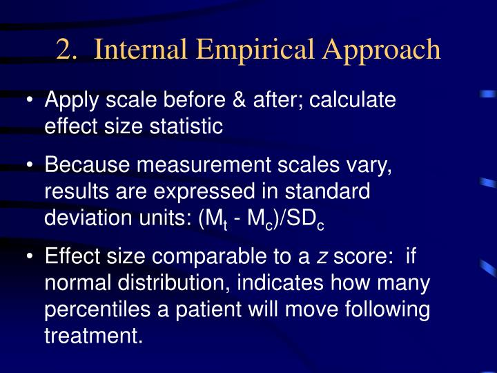 2.  Internal Empirical Approach
