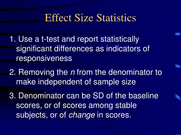 Effect Size Statistics