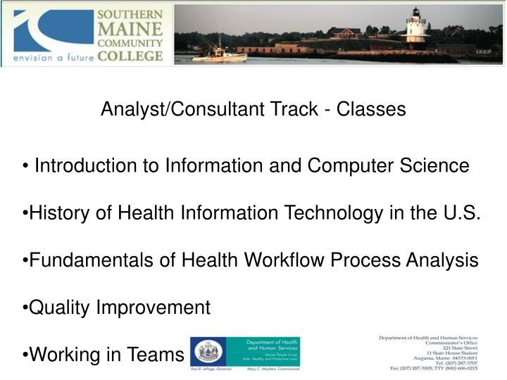 Analyst/Consultant Track - Classes