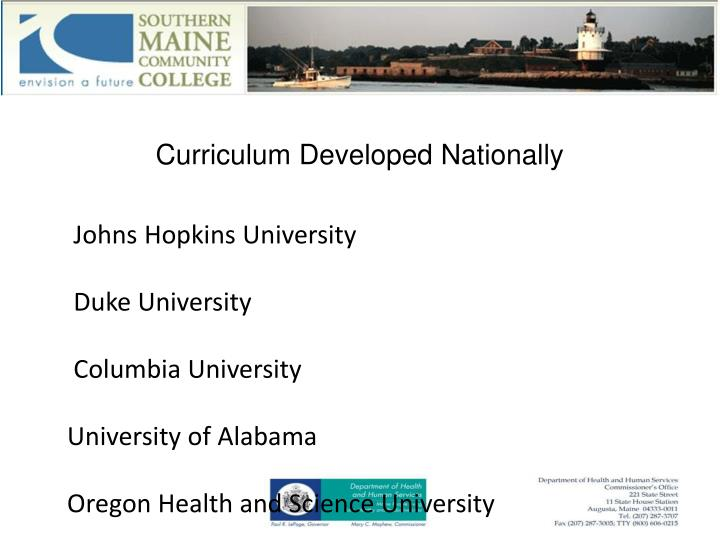 Curriculum Developed Nationally