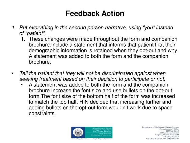 Feedback Action