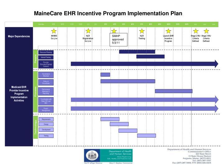 MaineCare EHR Incentive Program Implementation Plan