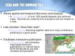 ecai and the humanities
