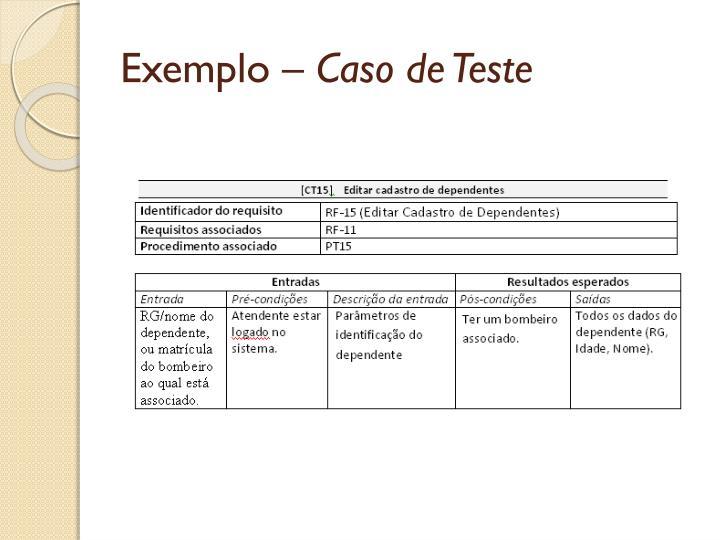 Exemplo –