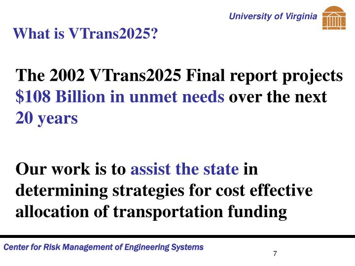 What is VTrans2025?