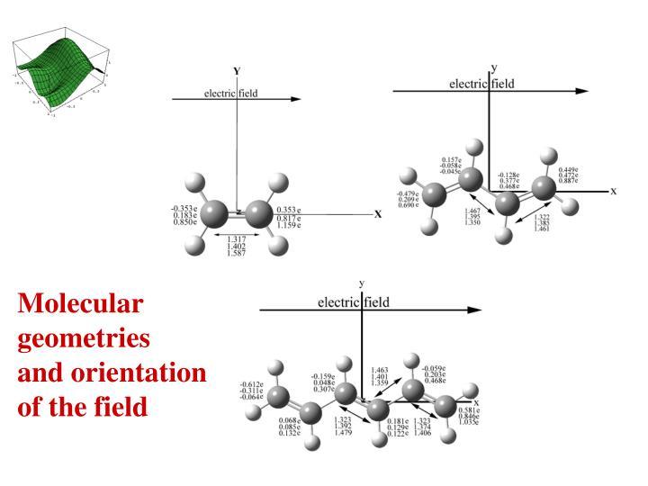 Molecular geometries