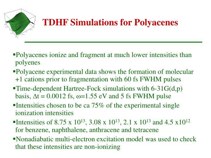 TDHF Simulations for Polyacenes
