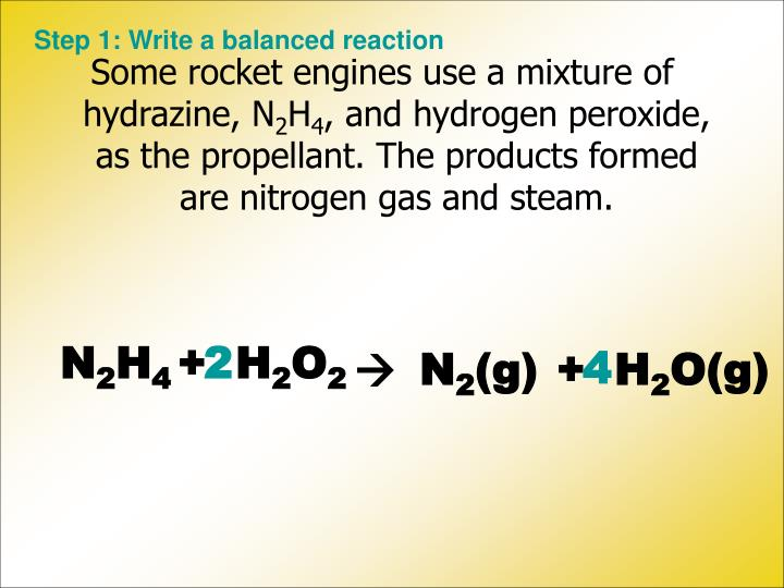 Step 1: Write a balanced reaction
