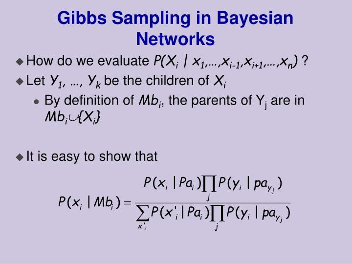 Gibbs Sampling in Bayesian Networks