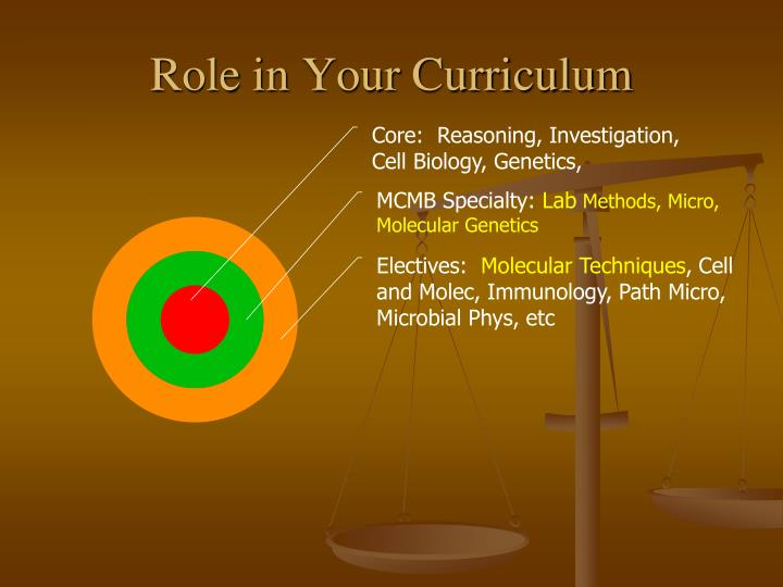 Role in Your Curriculum