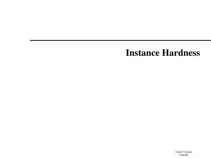 Instance Hardness