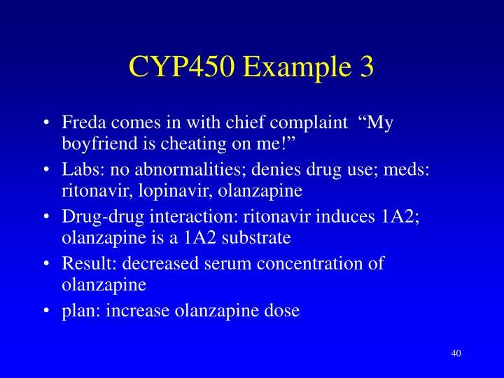 CYP450 Example 3