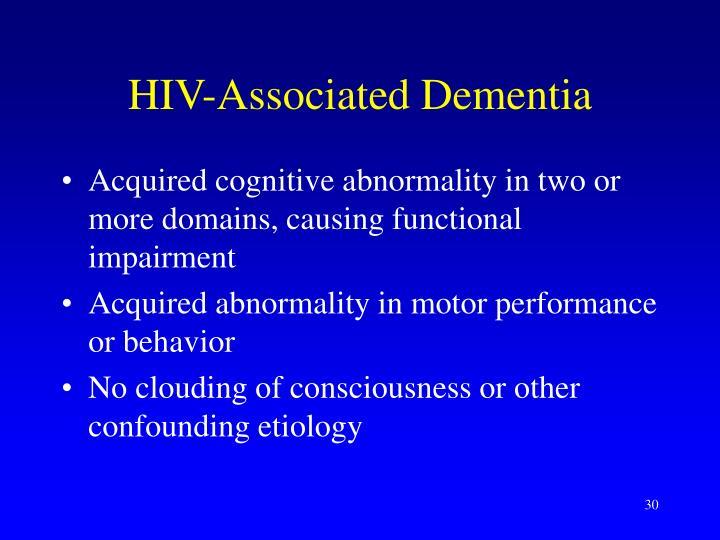 HIV-Associated Dementia