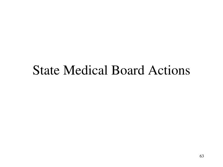 State Medical Board Actions