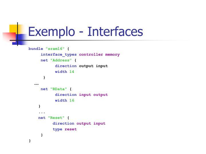 Exemplo - Interfaces