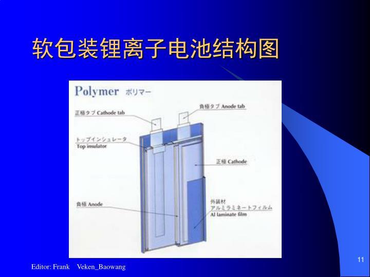 软包装锂离子电池结构图