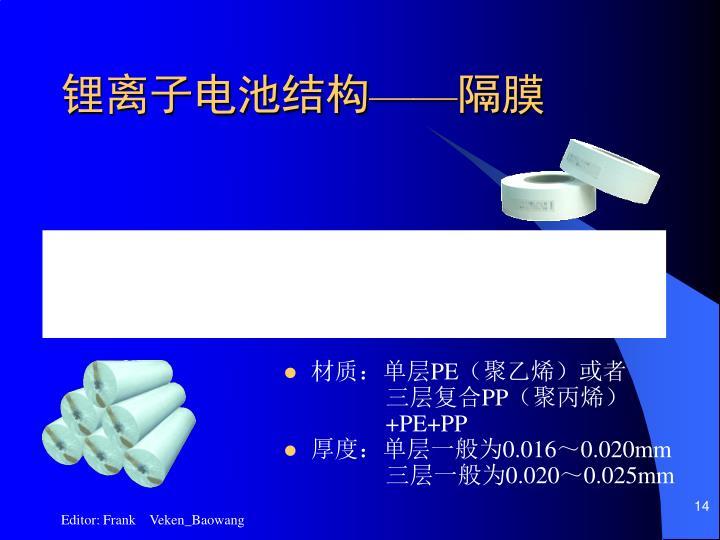 锂离子电池结构