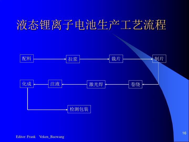 液态锂离子电池生产工艺流程
