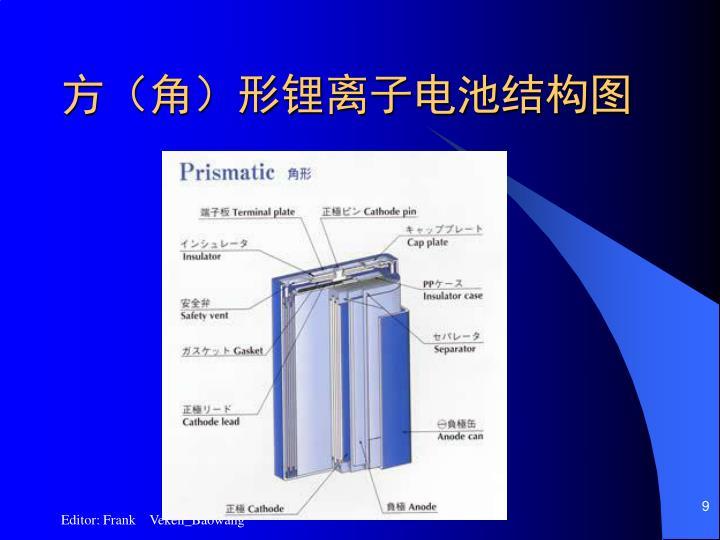 方(角)形锂离子电池结构图