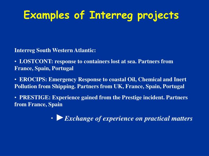 Examples of Interreg projects