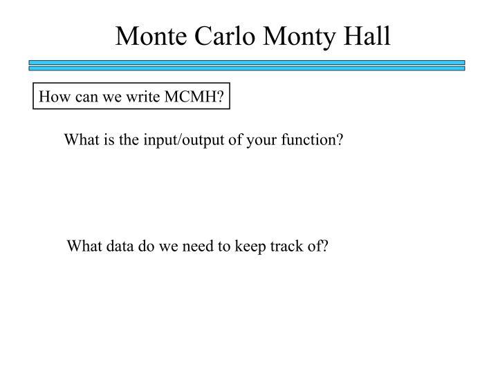 Monte Carlo Monty Hall