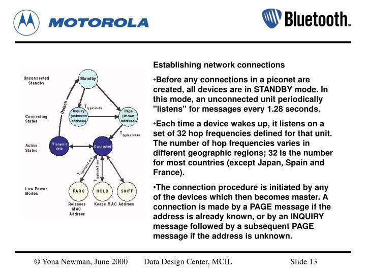 Establishing network connections