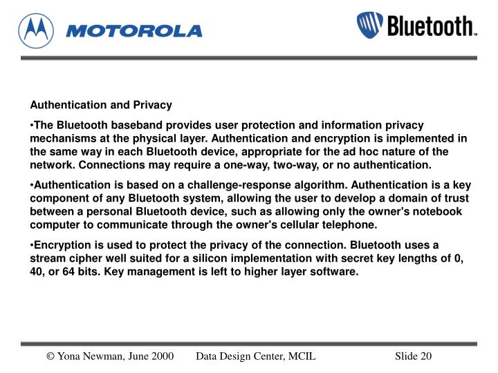 Authentication and Privacy