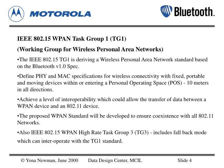 IEEE 802.15 WPAN Task Group 1 (TG1)