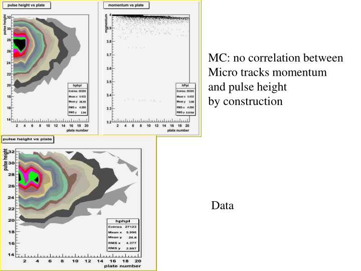 MC: no correlation between