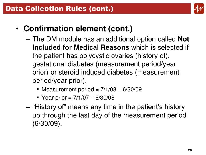 Data Collection Rules (cont.)