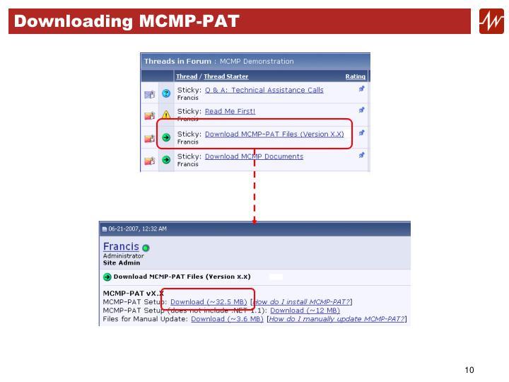 Downloading MCMP-PAT