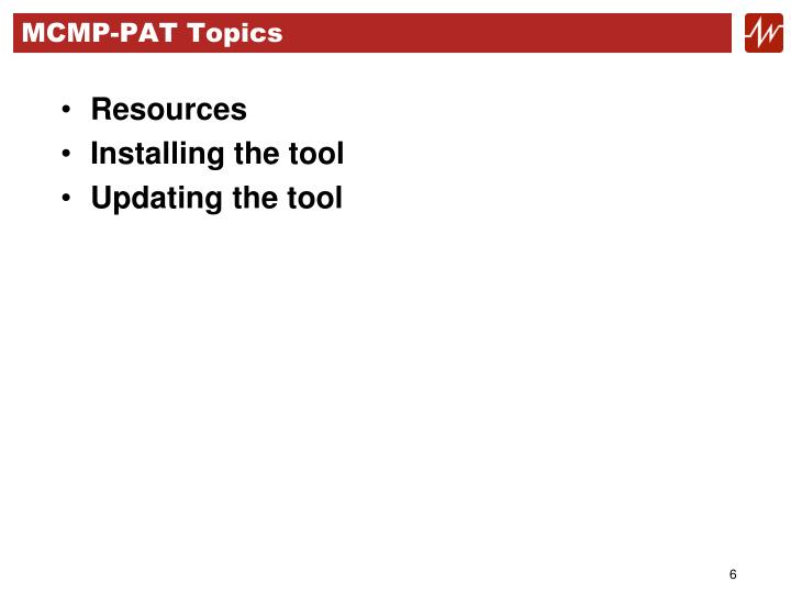 MCMP-PAT Topics