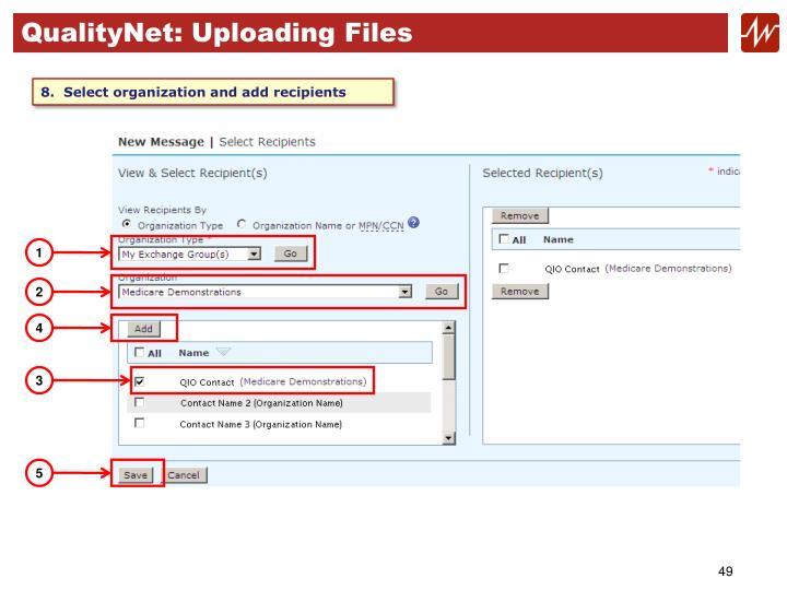 QualityNet: Uploading Files