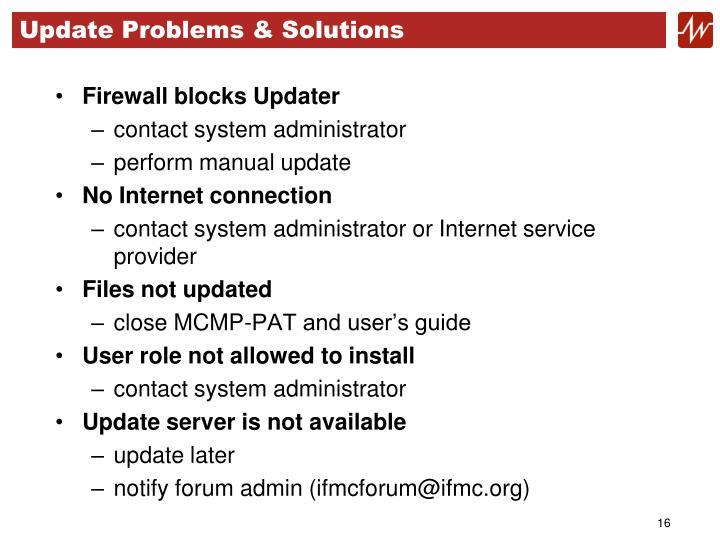 Update Problems & Solutions