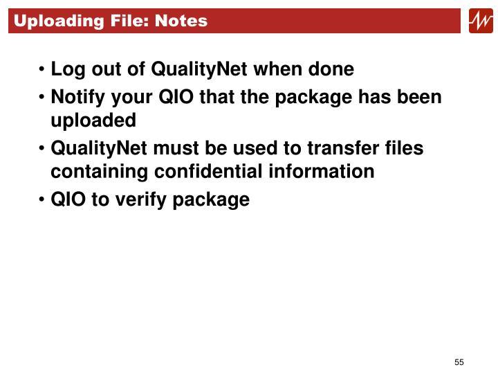 Uploading File: Notes