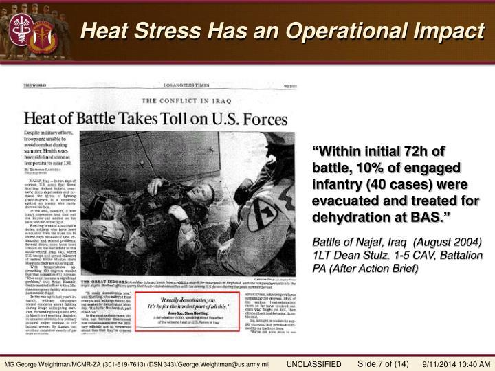 Heat Stress Has an Operational Impact