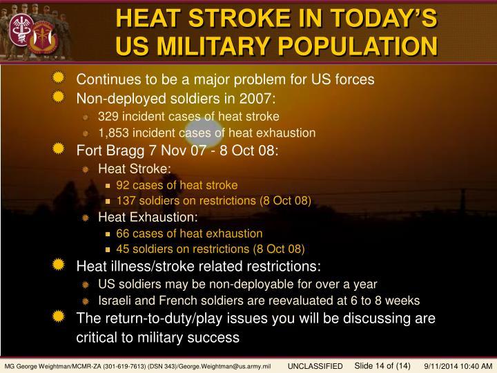 HEAT STROKE IN TODAY'S