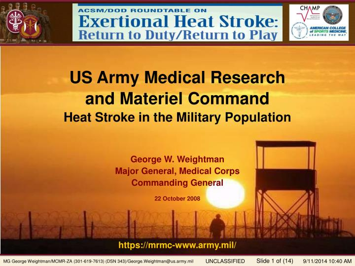 US Army Medical Research