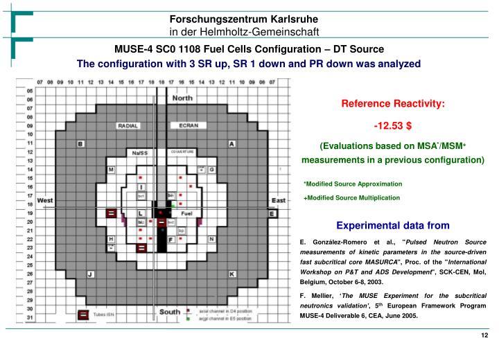 MUSE-4 SC0 1108 Fuel Cells Configuration – DT Source